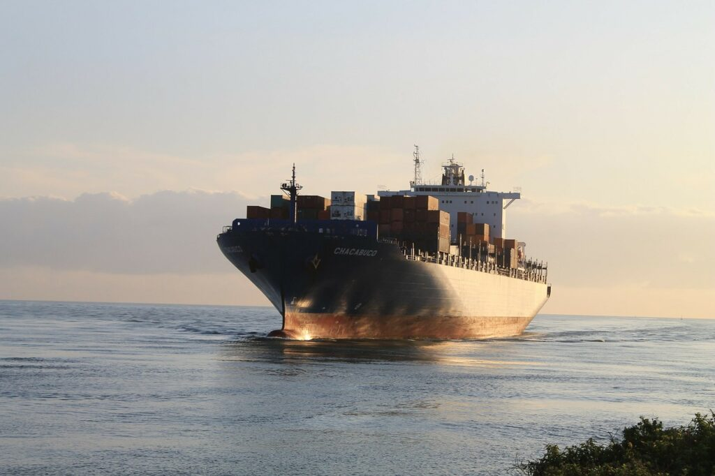 freighter, cargo ship, industry